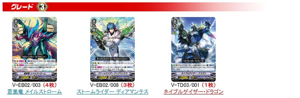 アクアフォース・デッキレシピ(TD蒼龍レオン&アジアサーキットの覇者) G3ユニット