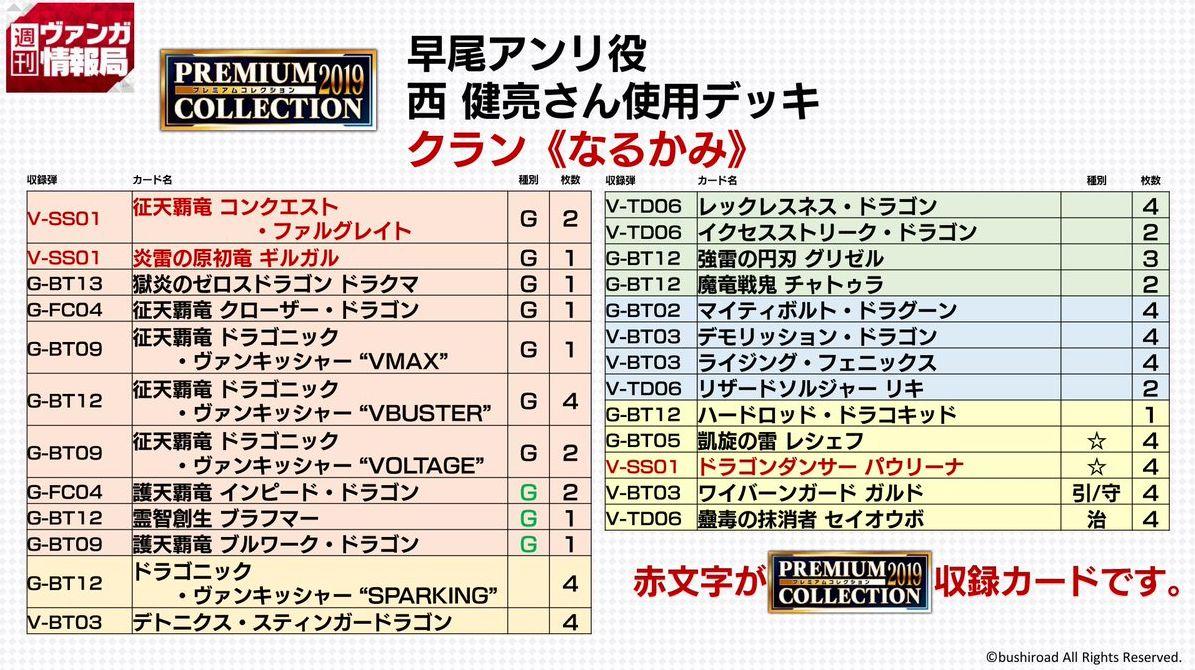 なるかみデッキ(週刊ヴァンガ情報局 対戦動画 プレミアムパック2019)