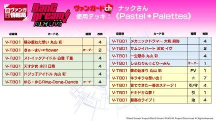 Pastel*Palettesデッキ(タイトルブースター BanG Dream! FILM LIVE ヴァンガード)